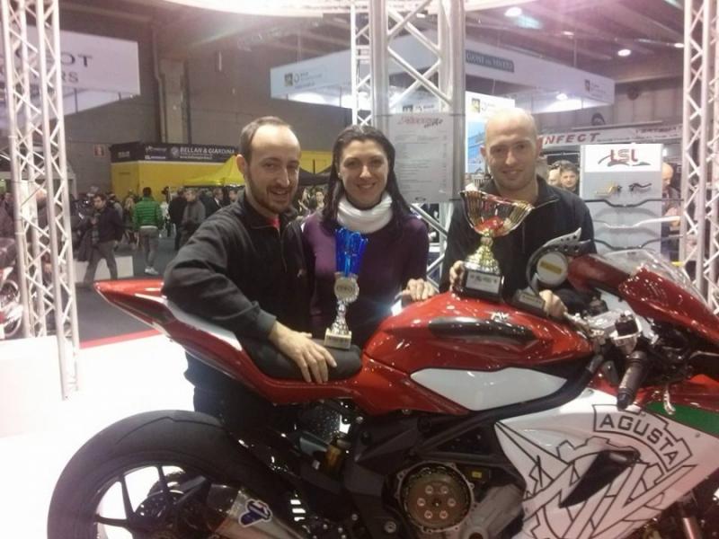 Letizia Marchetti in visita al nostro stand al Motor Bike Expò 2014