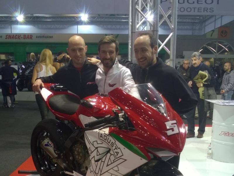 Ivan Goi al nostro stand al Motor Bike Expò 2014